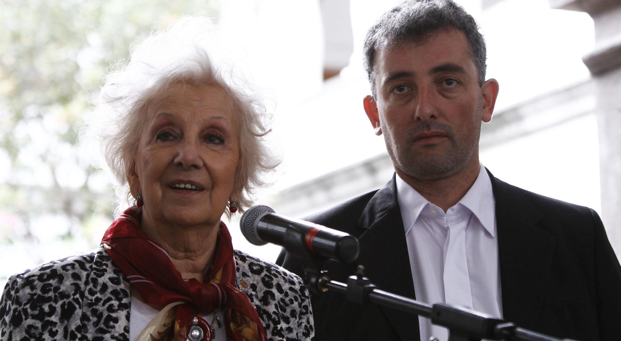 Estela carlotto y su nieto Ignacio Montoya Carlotto
